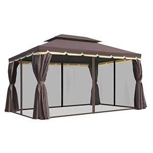 Vented Mesh Sidewall Outdoor Patio Gazebo Canopy