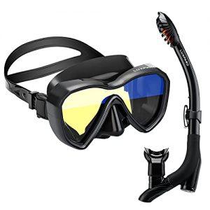 Anti-Fog Panoramic View Snorkel Mask