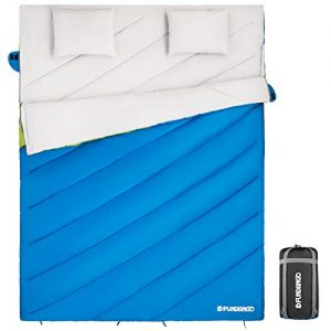 2 Person Sleeping Bag with 2 Pillows for Family, Couple, Adult