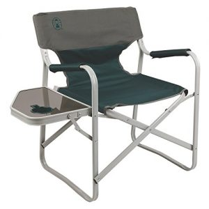 Portable Folding Deck Chair with Side Table