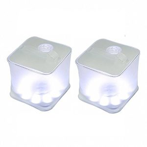 Frosted Cube Solar Survival Emergency Lantern