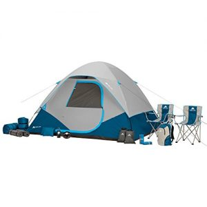 6 Person Tent includes rainfly, Lantern, Fan, Camping Chairs