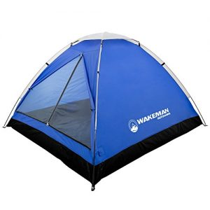 Water Resistant Dome Tent for Camping with Removable Rain Fly and Carry Bag