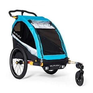 1 Seat Kids Bike Trailer & Stroller, Aqua