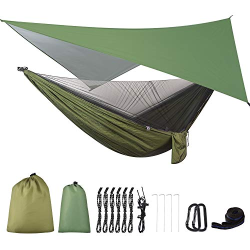 Rain Fly Tarp and Mosquito Net Tent Tree Straps