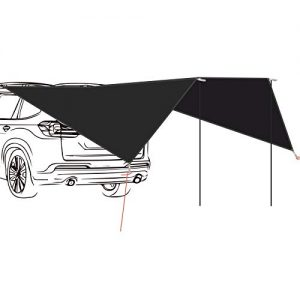 Lightweight Camping Tarp Sun Shelter with Tarp Poles