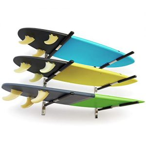 WOWSER Design Stainless Steel Wall Mount Paddle Board Storage