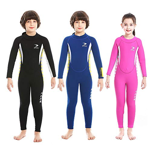 Neoprene Kids Full Wetsuit for Swimming, Diving, Snorkeling and Other Water Sports