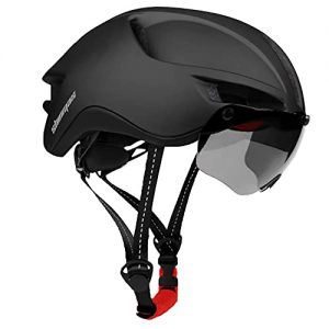 Bicycle Helmet with Removable Magnetic Goggles