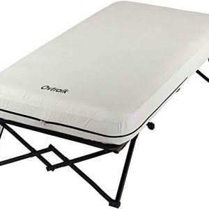 Folding Camp Cot and Air Bed with Side Tables