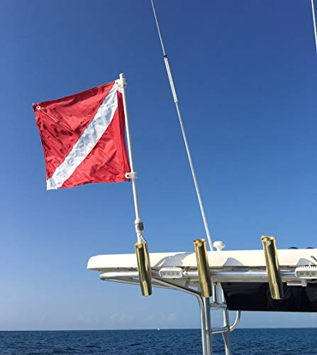 SPEARFISHING WORLD Dive Flag with Pole