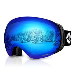 Snowboard Goggles Grey Lens Revo Blue Coating