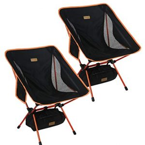 Ultralight Folding Backpacking Chairs for Outdoor, Camp, Picnic, Hiking