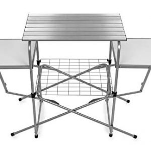 Folding Grill Table Quick Set-up and Folds