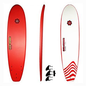 Red-Premium Foam Deck Surfboards-Wax-Free for Adults and Kids