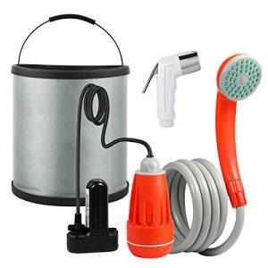 Portable Camping Shower Handheld Bidet Toilet Sprayer & Collapsible Bucket