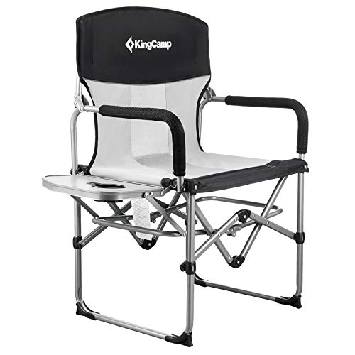 Camping Folding Mesh Chair with Side Table and Handle