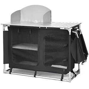 Portable Camping Kitchen Table with Storage Organizer