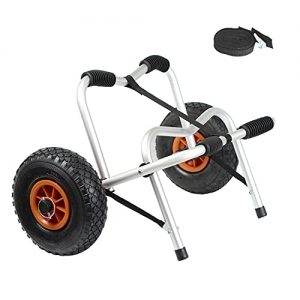 Canoe Carrier Trolley with Strap Tires Wheels for Transporting Kayak