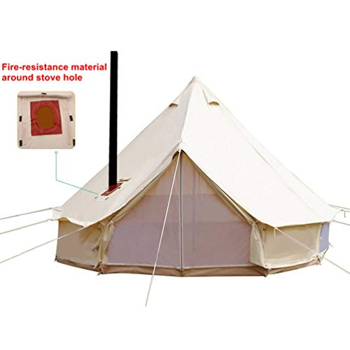 Camping, Glamping, Traveling Bell Tent with Stove Jacket