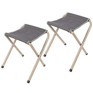 Folding Camp Stools for Adults, 15-inch Tall