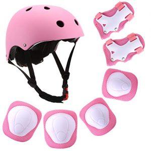 Protective Gear Set Adjustable Helmet Knee Elbow Pads