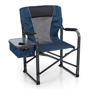 Folding Camping Chair with Side Table Heavy Duty