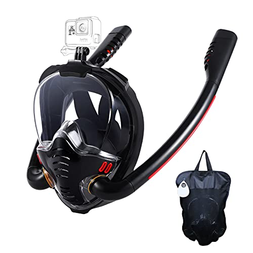 HJKB Full Face Snorkel Mask with Anti-Fog Wipes