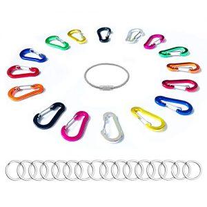 "Carabiner Clip 2"" D Ring Key Clip Aluminum Shape"