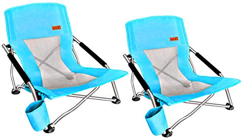 Ultralight Backpacking Chair with Cup Holder & Carry Bag