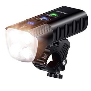 USB Rechargeable Bicycle Headlight with IP65 Waterproof and 13 Lighting Modes