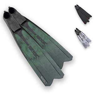 Seac Shout Camo S700, Long Fins for Scuba Diving