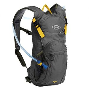 10L Leakproof Hiking Backpack has Large Compartments and 3L Water Bladder