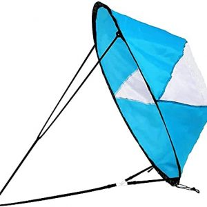 """N\C Kayak Downwind Wind Sail 42"""" Instant Popup Sail for Kayaks"""