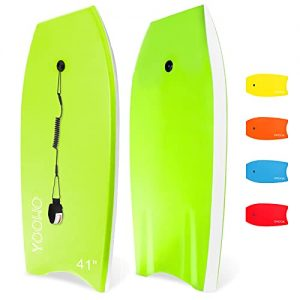 Lightweight Premium Body Board with Coiled Wrist Leash