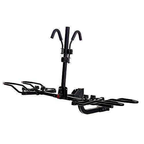 Hitch Mounted Rack 2-Bike Platform Style Carrier for Standard