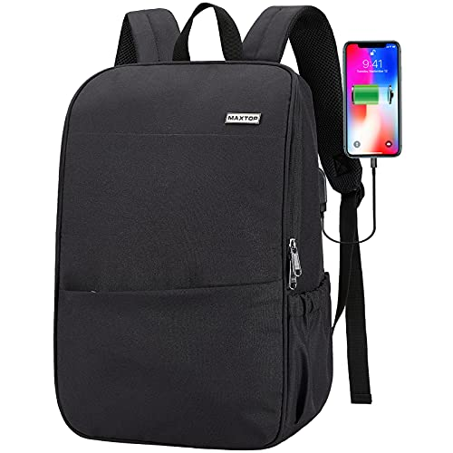 Water Resistant Laptop Backpack with USB Charging Port