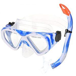URMI Children Snorkel Mask Semi-Dry Snorkeling Set Anti-Fog