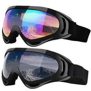 2-Pack Snowboard Motobike Goggles for Children Men & Women