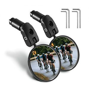 2PCS HD Safety Bicycle Cycling Rear View Mirror