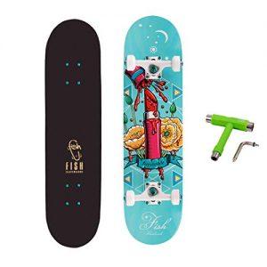 Complete Skateboard Canadian Maple Double Kick Deck