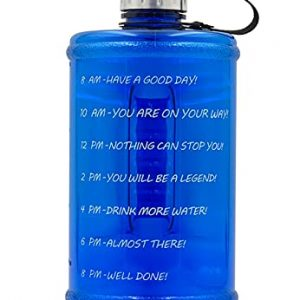 Large Water Bottle Hydration with Motivational Time Mark