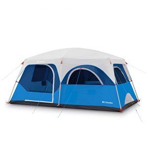 """STRAIGHT WALL DESIGN: Straighter walls mean more internal space and higher ceilings for you. The 14' x 8' floor plan with a 76"""" center height fits 8 campers, or can fit two queen air mattresses"""