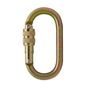 Oval-Shaped Carabiner Screw-Lock