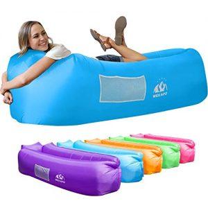 Inflatable Lounger Air Sofa Hammock-Portable for Backyard Lakeside Beach