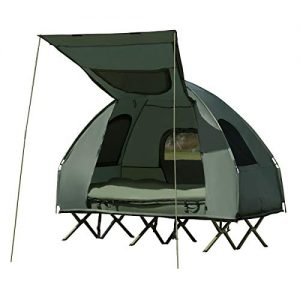 Foldable Outdoor Camping Tent Cot with Air Mattress & Sleeping Bag