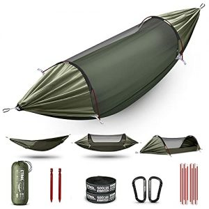 Double & Single Hammock with Mosquito Net Camping Hammock