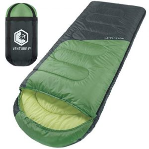 Water Resistant Backpacking Sleeping Bag for Adults & Kids