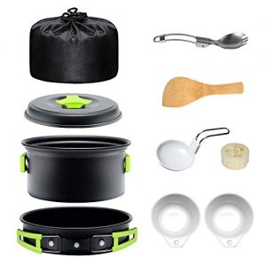 Camping Portable Cookware Set Outdoors Hiking