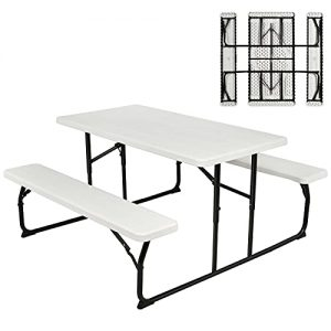 Folding Picnic Table Bench Set Weather Resistant